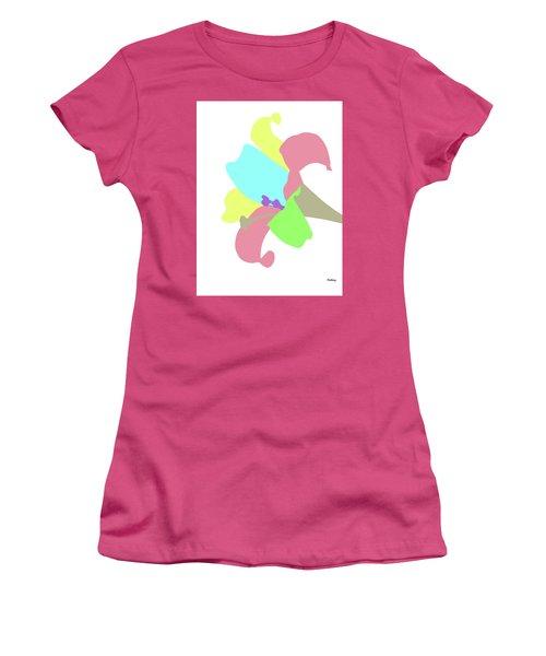 Women's T-Shirt (Junior Cut) featuring the digital art Music Notes 12 by David Bridburg