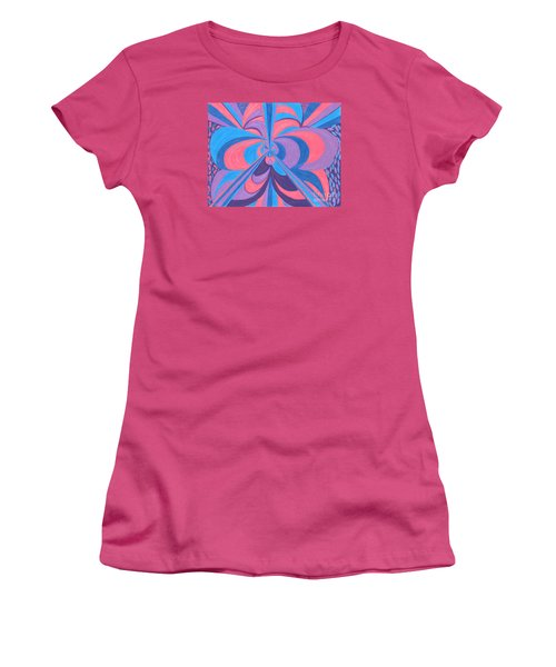 Women's T-Shirt (Junior Cut) featuring the drawing Orchid by Kim Sy Ok
