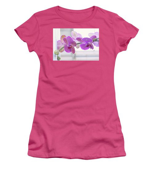 Orchid Spray Women's T-Shirt (Athletic Fit)