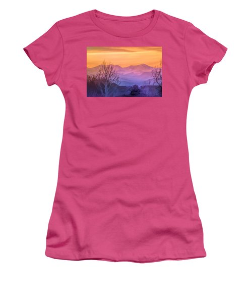 Painted Mountains Women's T-Shirt (Athletic Fit)