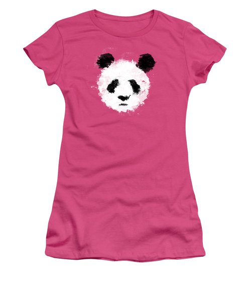 Panda Women's T-Shirt (Junior Cut) by Mark Rogan