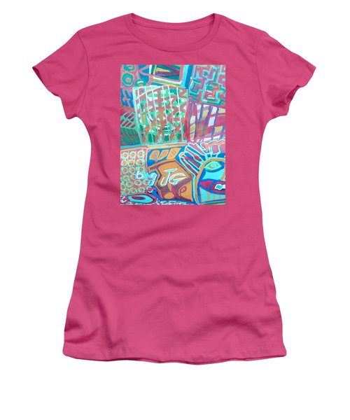 Panel Of Hand Painted Mondeo Women's T-Shirt (Athletic Fit)