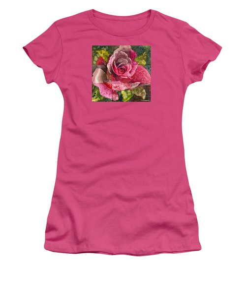 Partitioned Rose IIi Women's T-Shirt (Junior Cut) by Anne Gifford