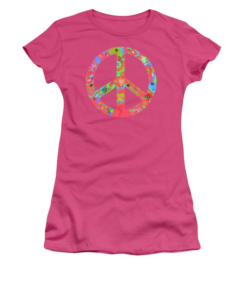 Women's T-Shirt (Junior Cut) featuring the digital art Peace by Linda Lees