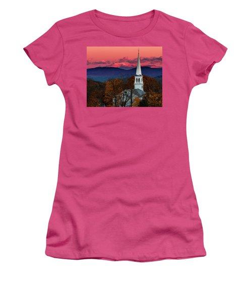 Peacham And White Mtn Sunset Women's T-Shirt (Junior Cut) by Tim Kirchoff