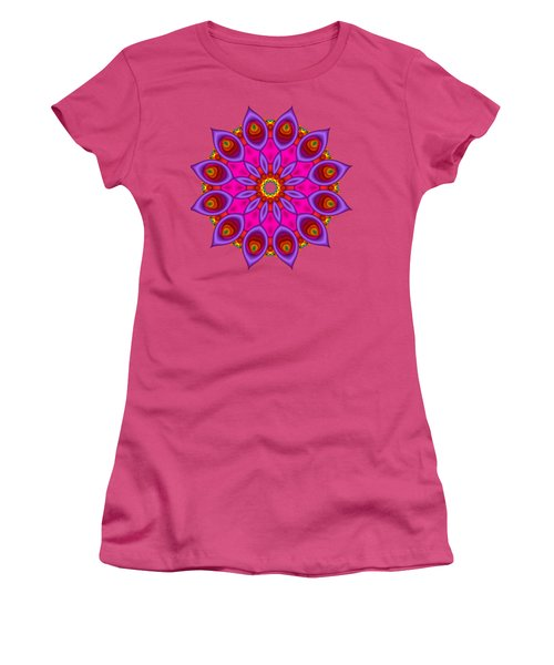 Peacock Fractal Flower II Women's T-Shirt (Athletic Fit)