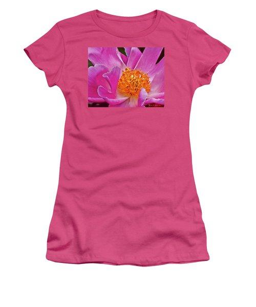 Pink Flower Peony Garden Wall Art Women's T-Shirt (Athletic Fit)