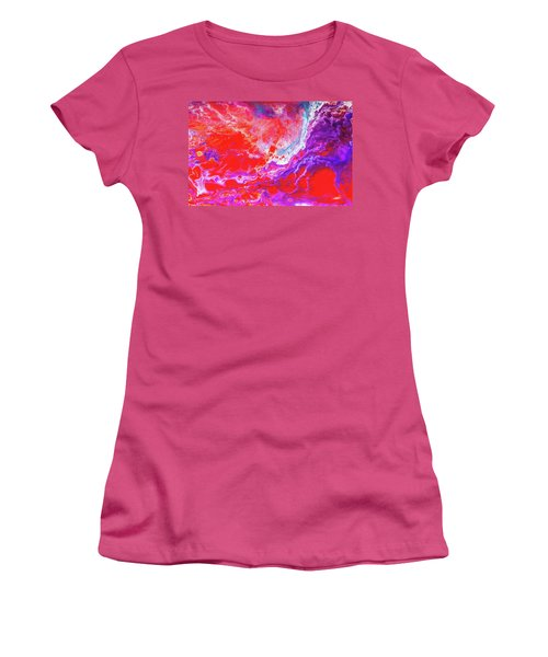 Perfect Love Storm - Colorful Abstract Painting Women's T-Shirt (Junior Cut) by Modern Art Prints