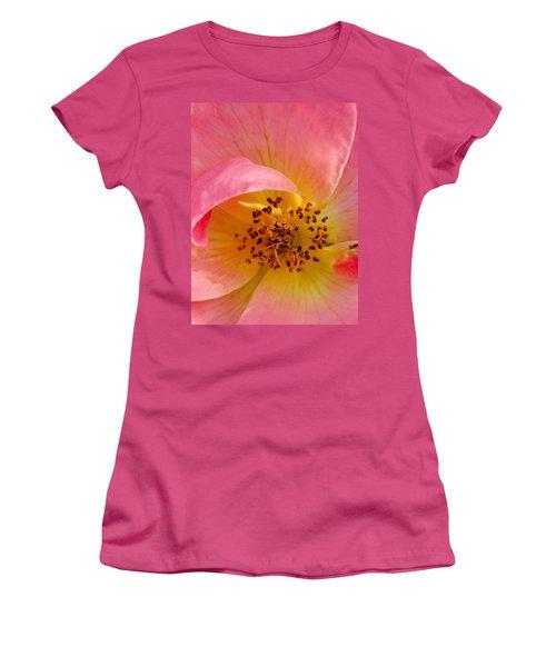 Women's T-Shirt (Junior Cut) featuring the photograph Petal Pink by Geri Glavis