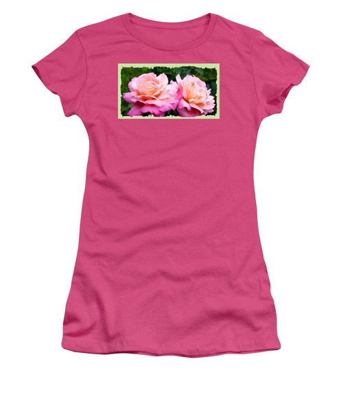 Women's T-Shirt (Junior Cut) featuring the photograph Photogenic Peace Roses by Will Borden