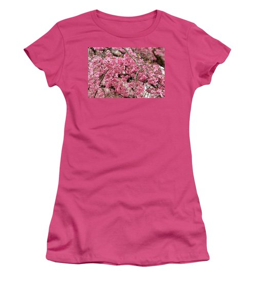 Pink Cherry Blossom Japan Arashayama Spring Holiday Diaries Women's T-Shirt (Junior Cut)