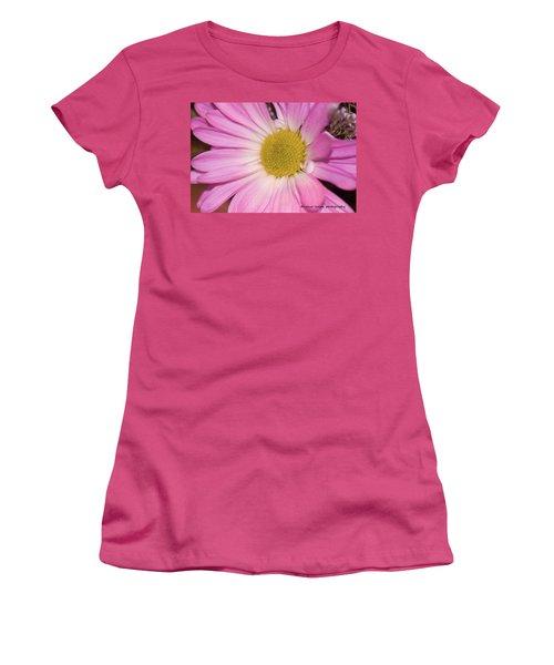 Pink Daisy Women's T-Shirt (Junior Cut) by Nance Larson