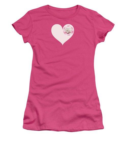 Pink Elephant Women's T-Shirt (Junior Cut) by Terri Waters