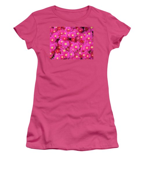 Pink Flower Explosion Women's T-Shirt (Junior Cut) by Mark Barclay