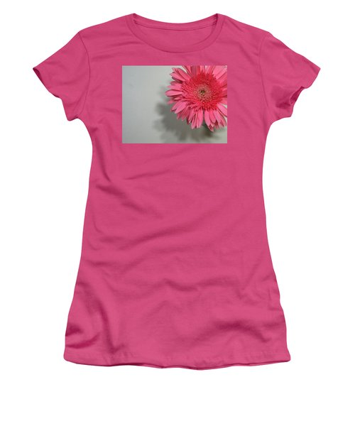 Women's T-Shirt (Junior Cut) featuring the painting Pink Gerbera by Marna Edwards Flavell