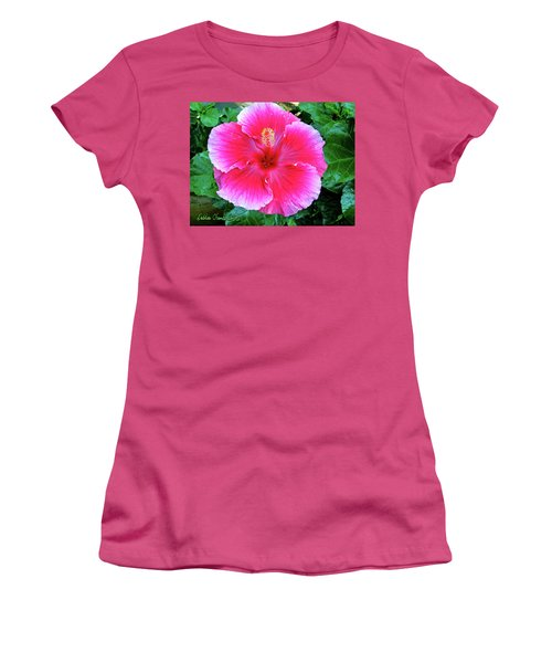 Pink Hibiscus  Women's T-Shirt (Athletic Fit)