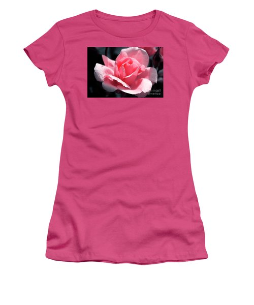 Pink In Light And Shadow Women's T-Shirt (Junior Cut) by Rebecca Davis