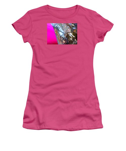 Women's T-Shirt (Junior Cut) featuring the photograph Pink Lustre  by Prakash Ghai