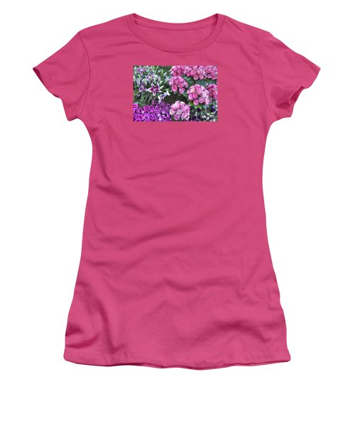 Pink, Purple And Lillies Women's T-Shirt (Athletic Fit)