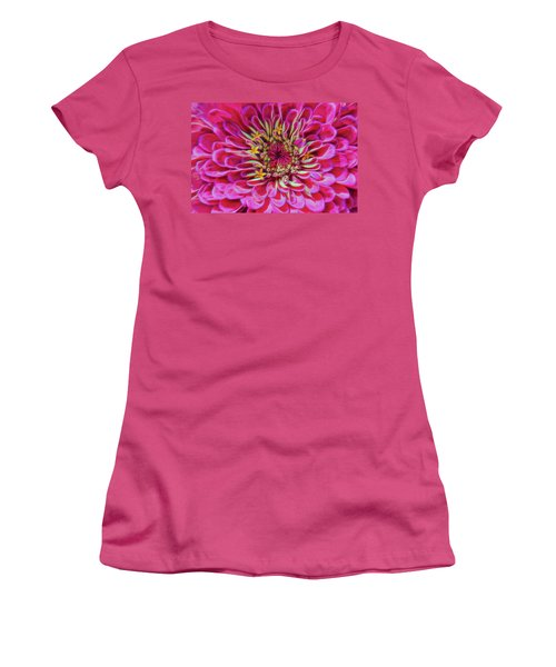 Pink Zinnia Glow Women's T-Shirt (Athletic Fit)