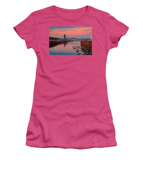 Pittsburgh 31st Street Bridge  Women's T-Shirt (Junior Cut) by Emmanuel Panagiotakis