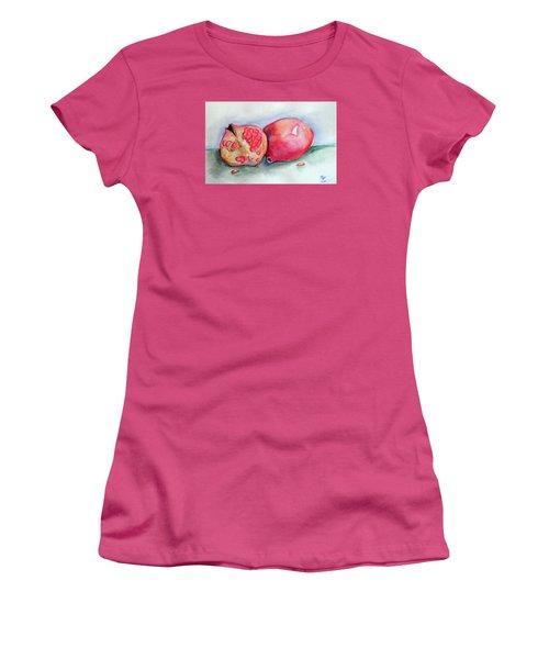 Pomegranates Women's T-Shirt (Junior Cut) by Loretta Nash