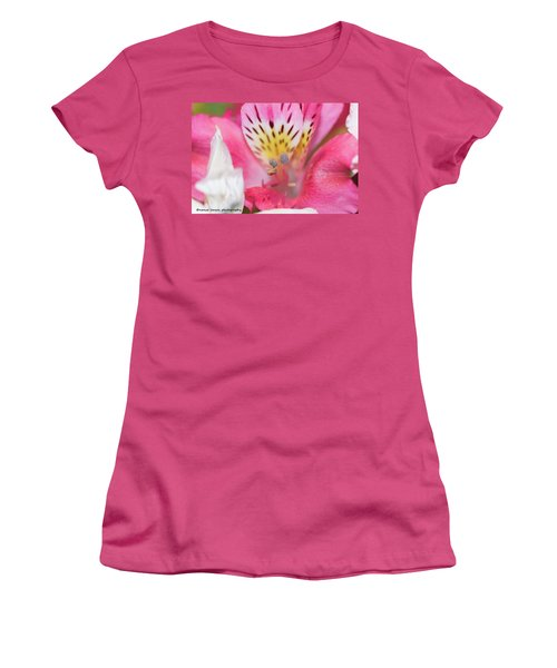 Pretty Pink Women's T-Shirt (Junior Cut) by Nance Larson