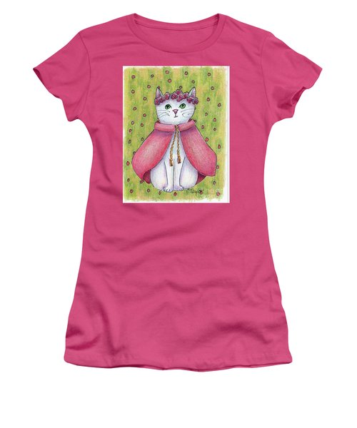 Women's T-Shirt (Junior Cut) featuring the drawing Princess by Terry Taylor