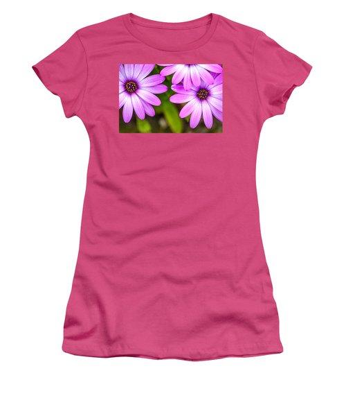 Purple Petals Women's T-Shirt (Junior Cut) by Az Jackson