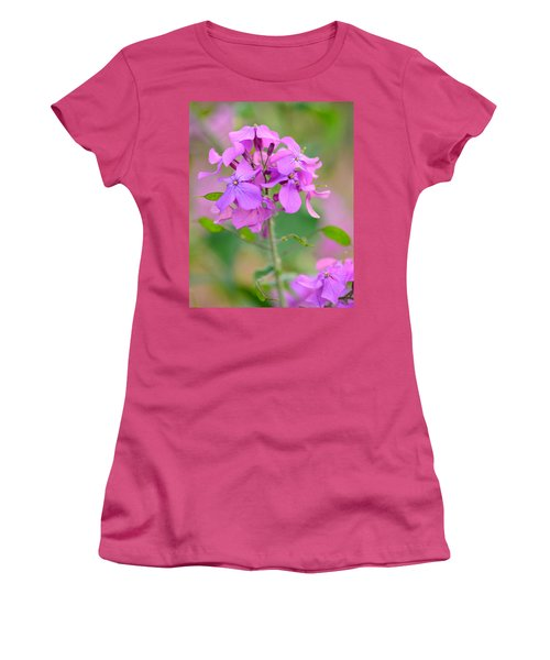 Purple Star Phlox Women's T-Shirt (Athletic Fit)