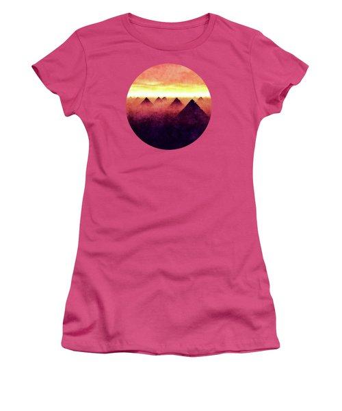 Pyramids At Sunrise Women's T-Shirt (Junior Cut) by Phil Perkins