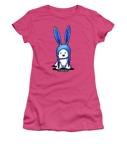 Rabbit Ears Westie Women's T-Shirt (Athletic Fit)