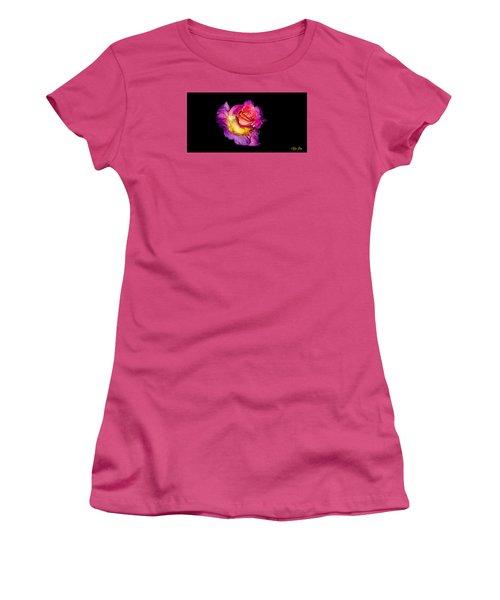 Rain-melted Rose Women's T-Shirt (Junior Cut) by Rikk Flohr