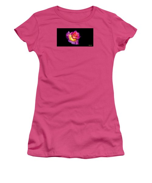 Rain-melted Rose Women's T-Shirt (Athletic Fit)