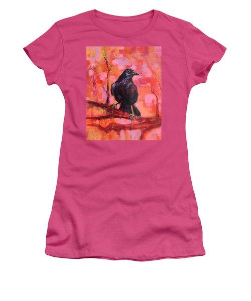 Raven Bright Women's T-Shirt (Athletic Fit)
