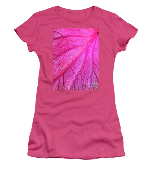 Red Leaf Arteries Women's T-Shirt (Athletic Fit)