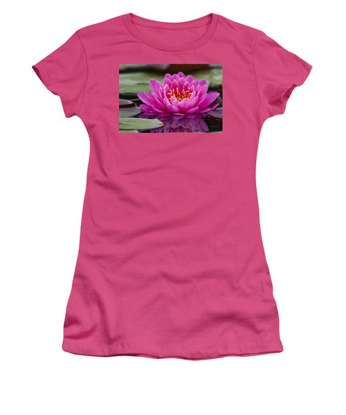 Reflections Of A Waterlily Women's T-Shirt (Athletic Fit)