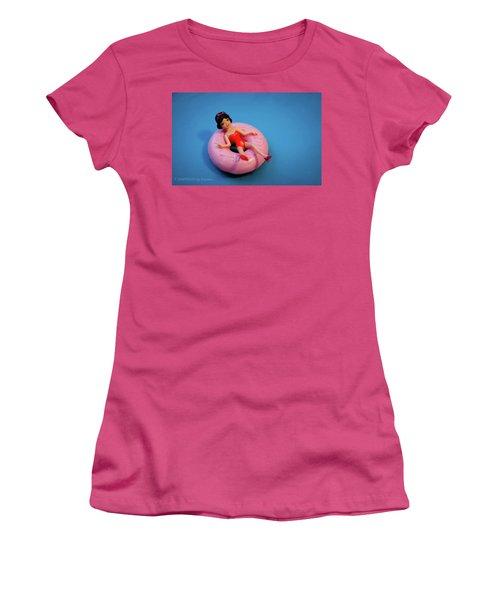 Relax Girl Women's T-Shirt (Junior Cut) by Stefanie Silva