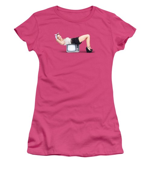 Women's T-Shirt (Junior Cut) featuring the photograph Retro Housewife by Jorgo Photography - Wall Art Gallery