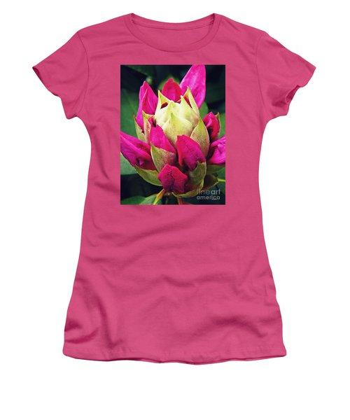 Rhododendron Velvet    Women's T-Shirt (Junior Cut) by Sarah Loft