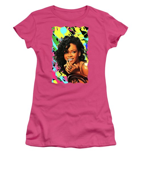 Rihanna - Celebrity Art Women's T-Shirt (Athletic Fit)