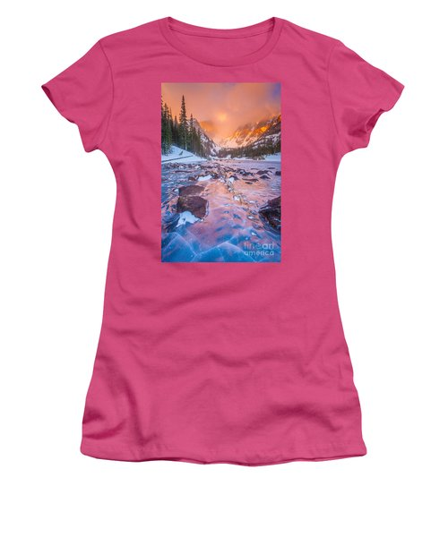 Rocky Mountain Sunrise Women's T-Shirt (Junior Cut) by Steven Reed