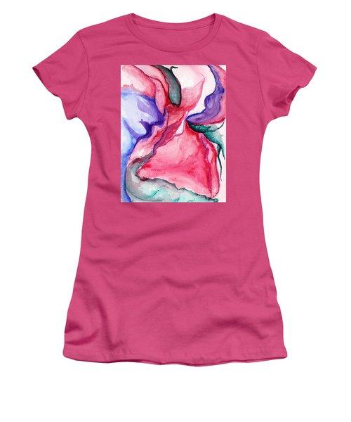 Rose Wave Women's T-Shirt (Athletic Fit)