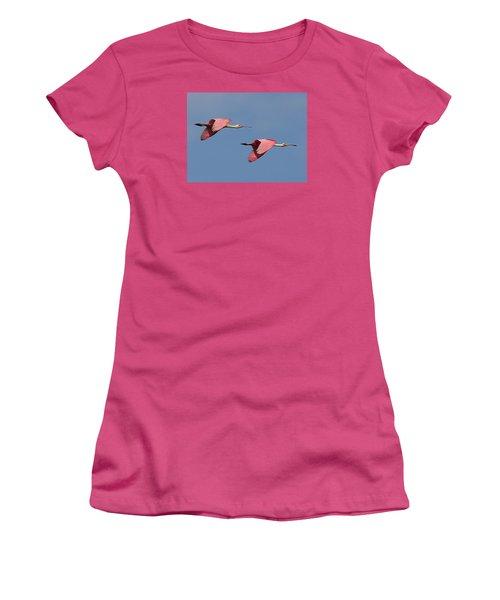 Roseate Spoonbills Women's T-Shirt (Athletic Fit)