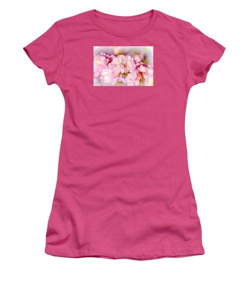 Women's T-Shirt (Junior Cut) featuring the photograph Sakura Cherry Flower - Wedding Bouquet by Alexander Senin