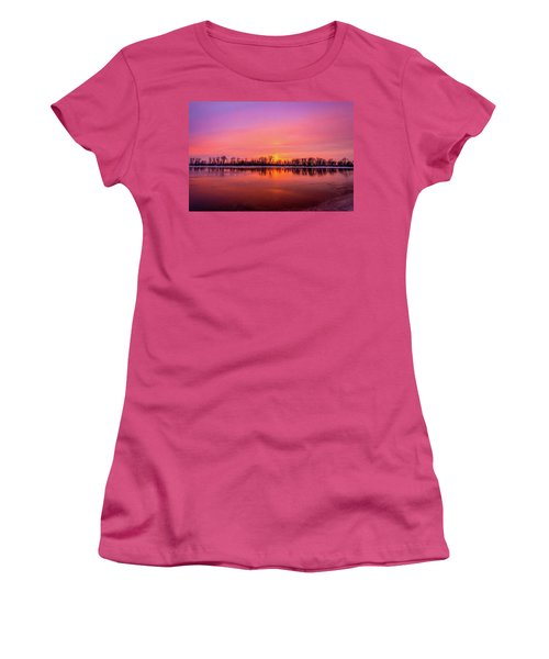 Sandy Chute Sunset Women's T-Shirt (Athletic Fit)