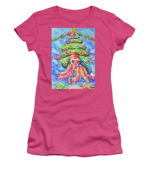 Santa Crab Women's T-Shirt (Athletic Fit)