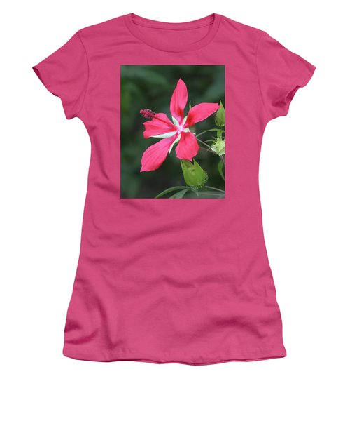 Scarlet Hibiscus #4 Women's T-Shirt (Athletic Fit)