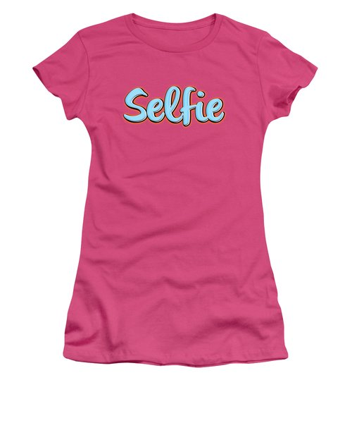 Selfie Tee Women's T-Shirt (Junior Cut) by Edward Fielding