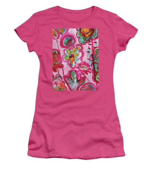 Silly Flowers Women's T-Shirt (Athletic Fit)